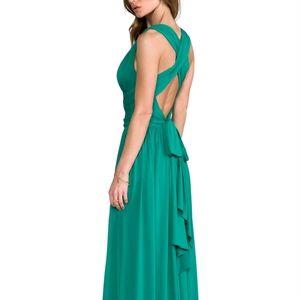 Halston Heritage Grecian halter wrap dress / gown